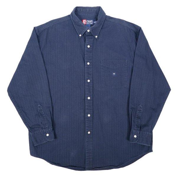 画像1: 90's CHAPS Ralph Lauren HBT ボタンダウンシャツ (1)