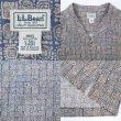 """画像3: 00's L.L.Bean 総柄 オープンカラーシャツ """"NAVY"""" (3)"""