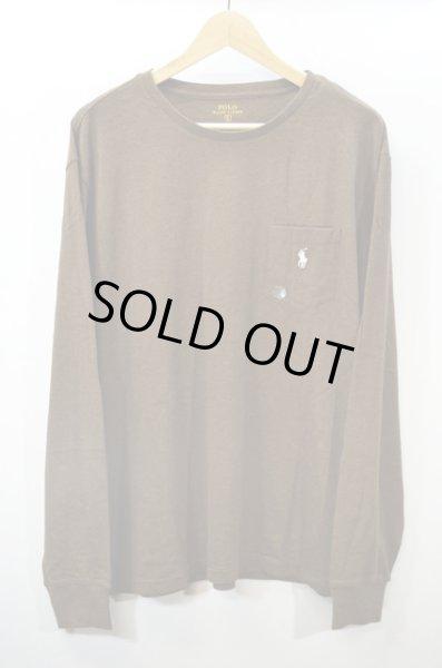 画像1: 新品未使用  Polo Ralph Lauren ポケット付き L/S Tシャツ (1)