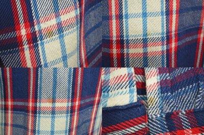 """画像1: 70's BIG MAC ヘビーネルシャツ """"青ベース"""""""