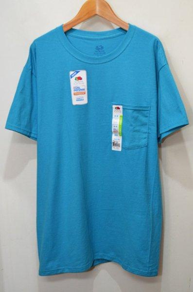 """画像1: 日本未発売 FRUIT OF THE LOOM ポケットTシャツ """"BLUE JEWEL"""" (1)"""