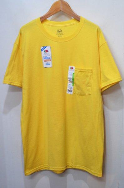 """画像1: 日本未発売 FRUIT OF THE LOOM ポケットTシャツ """"SUNSET YELLOW"""" (1)"""