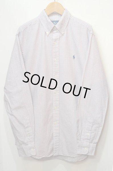 画像1: Polo Ralph Lauren タッタソールチェック柄 ボタンダウンシャツ (1)