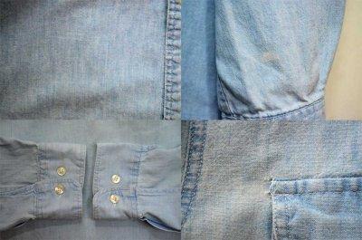 """画像1: 90's OLD GAP シャンブレー BDシャツ """"2TONE"""""""