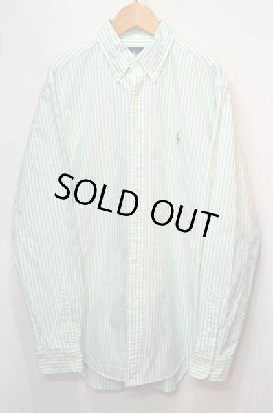 画像1: Polo Ralph Lauren ストライプ柄 ボタンダウンシャツ (1)