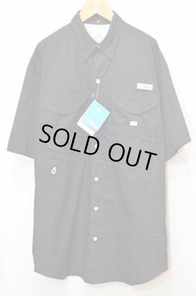 """画像1: 新品 Columbia PFG S/S ナイロンフィッシングシャツ """"BLACK"""" (1)"""