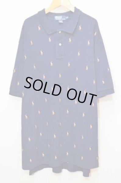 画像1: Polo Ralph Lauren S/S 総柄刺繍 ポロシャツ (1)