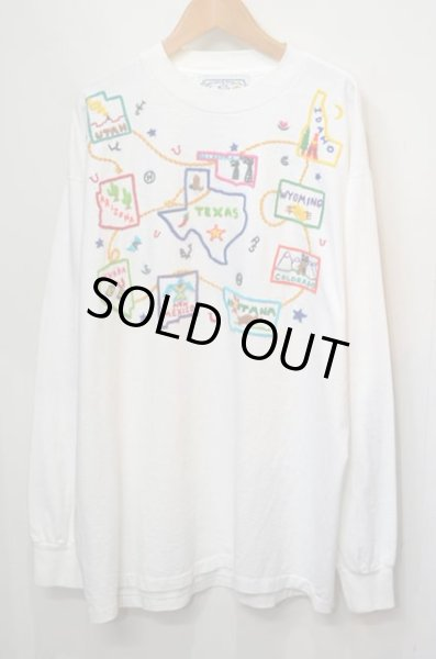 """画像1: 90's MAGICAL TEE'S 手刺繍 L/S Tシャツ """"MADE IN USA"""" (1)"""