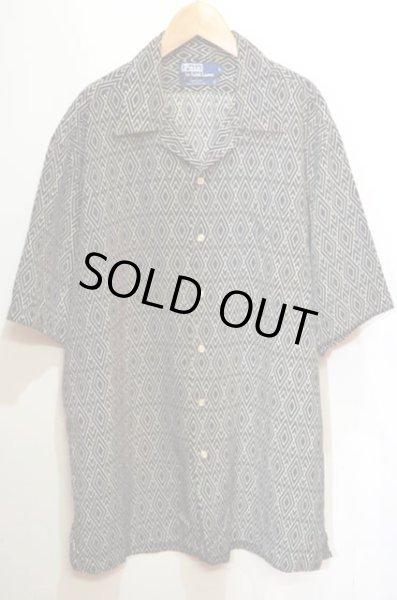 """画像1: 90's Polo Ralph Lauren オープンカラーシルクシャツ """"MADE IN USA"""" (1)"""