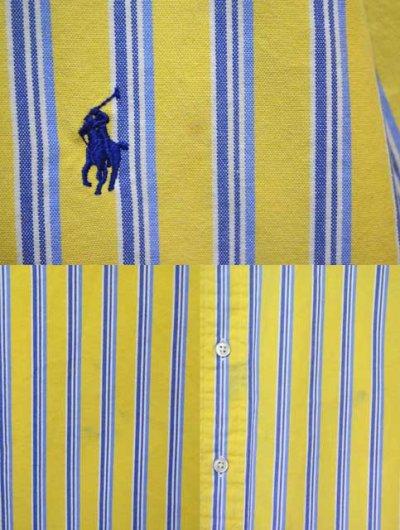 画像1: Polo Ralph Lauren マルチストライプ柄 S/S ボタンダウンシャツ