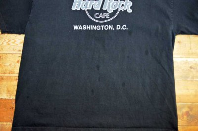 """画像1: Hard Rock CAFE ロゴプリントTシャツ """"WASHINGTON,D.C."""""""