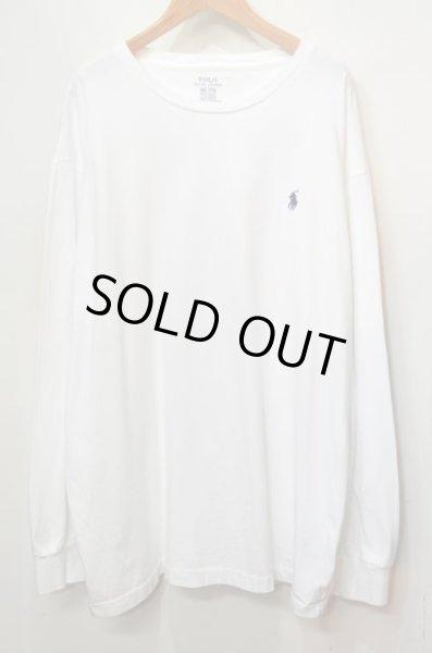 """画像1: Polo Ralph Lauren L/S ロゴ刺繍 Tシャツ """"WHITE"""" (1)"""