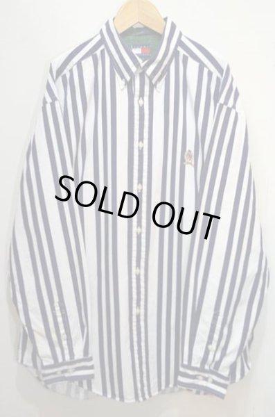 画像1: TOMMY HILFIGER マルチストライプ柄 ボタンダウンシャツ (1)