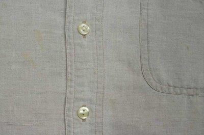 画像1: 90's OLD GAP コットンリネン ボタンダウンシャツ