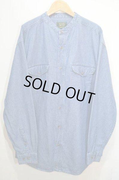 画像1: 90's Scandia Woods デニムバンドカラーシャツ (1)