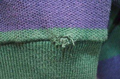 画像1: 90's Polo Ralph Lauren ポケット付き L/S ボーダーカットソー
