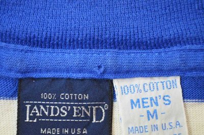 """画像1: 90's LANDS' END ボーダー柄 L/S カットソー """"MADE IN USA"""""""