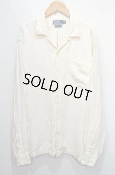 """画像1: Polo Ralph Lauren オープンカラーシャツ """"HBT織り / Silk×Linen"""" (1)"""