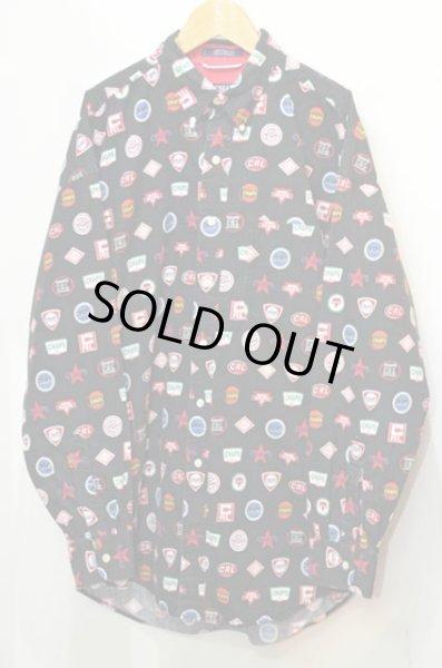 画像1: CHAPS Ralph Lauren 総柄ボタンダウンシャツ (1)