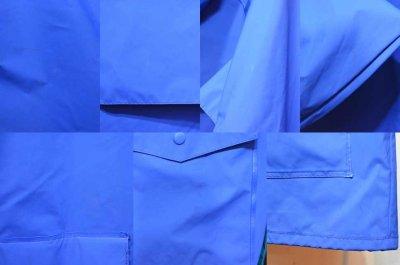 """画像1: 90's Columbia PVC フーディージャケット """"BLUE"""""""