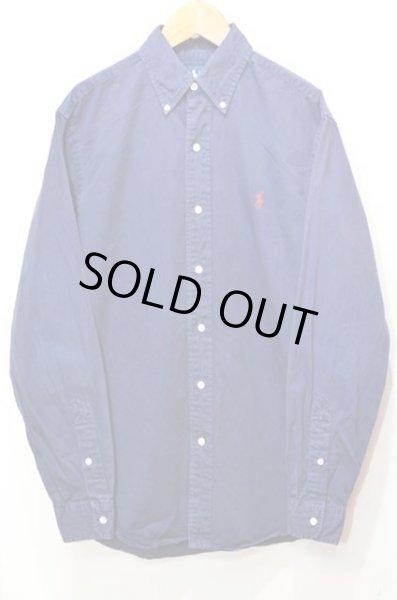 """画像1: Polo Ralph Lauren コットンツイル ボタンダウンシャツ """"NAVY"""" (1)"""