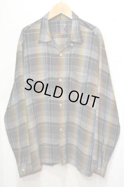 """画像1: 60's VAN HEUSEN オープンカラーレーヨンシャツ """"BLACKベース / オンブレ"""" (1)"""