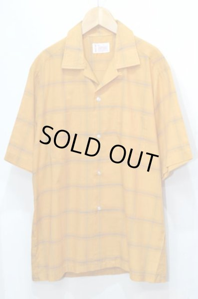 画像1: 70's TOWNCRAFT S/S オープンカラーシャツ (1)