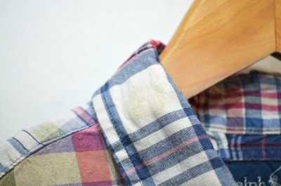 """画像1: Ralph Lauren S/S パッチワーク ボタンダウンシャツ """"3点留め"""""""