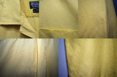 """画像1: 90's POLO Ralph Lauren S/S オープンカラーシャツ """"コットン×シルク"""""""