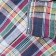 画像4: 60's Torino マドラスチェック柄 オープンカラーシャツ (4)