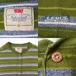 画像2: 90's Levi's マルチボーダー柄 ヘンリーネック Tシャツ (2)