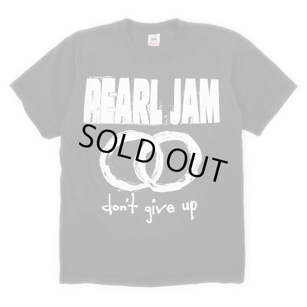 """画像1: 90's PEARL JAM ツアーTシャツ """"don't give up"""" (1)"""