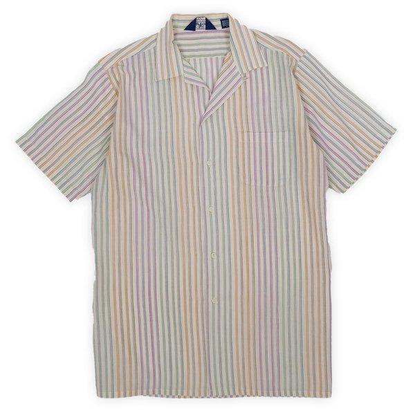 """画像1: 70-80's Par Four S/S オープンカラーシャツ """"マルチストライプ柄"""" (1)"""