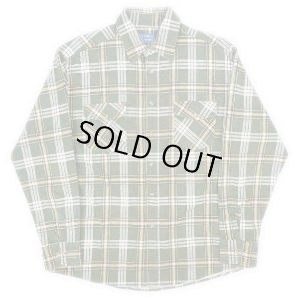画像1: 90's HABAND プリントネルシャツ (1)