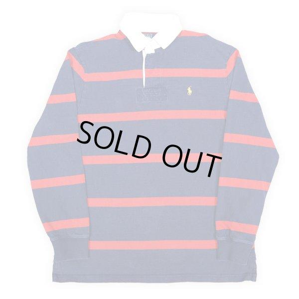 画像1: Polo Ralph Lauren ボーダー柄 ラガーシャツ (1)