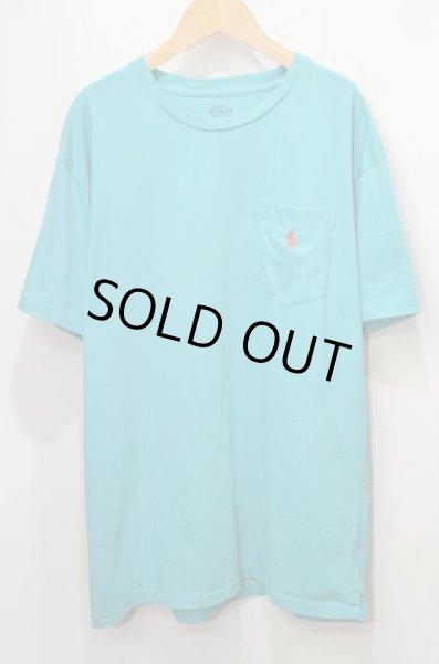 """画像1: Polo Ralph Lauren ポケットTシャツ """"エメラルドブルー"""" (1)"""