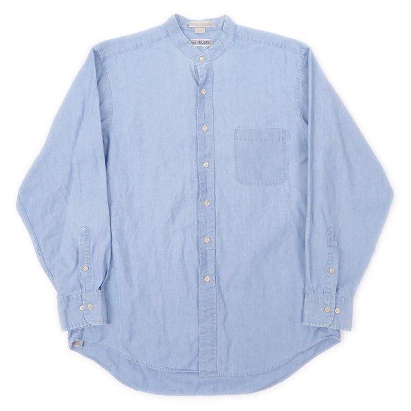 画像1: 90's VAN HEUSEN シャンブレーバンドカラーシャツ (1)