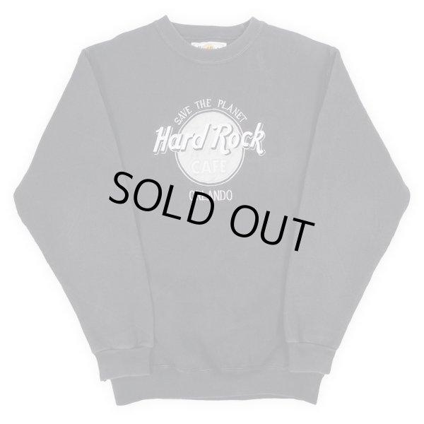 """画像1: 90's Hard Rock CAFE ロゴ刺繍 スウェットシャツ """"MADE IN USA"""" (1)"""