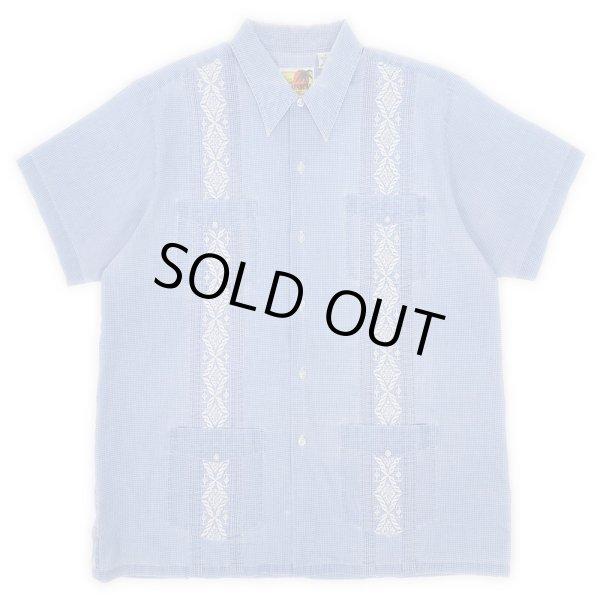 画像1: 90's HABAND チェック柄 キューバシャツ (1)