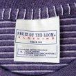 """画像3: 90-00's FRUIT OF THE LOOM マルチボーダーTシャツ """"PURPLE BASE"""" (3)"""