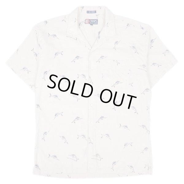 画像1: 90's CHAPS Ralph Lauren オープンカラーシャツ (1)