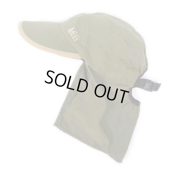 """画像1: 90-00's REI Sun Shade CAP """"OLIVE / MADE IN USA"""" (1)"""