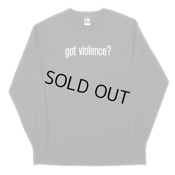 """画像1: 90-00's MARILYN MANSON L/S Tシャツ """"got violence? /DEADSTOCK"""" (1)"""