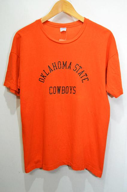 70 s champion プリントtシャツ oklahoma state cowboys